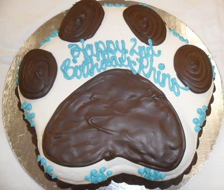 Dog Birthday Cake